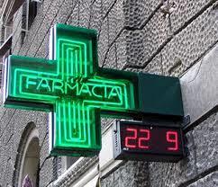 Italian pharmacy sign
