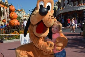 Meeting Pluto at Disney World