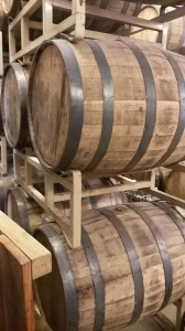 Aged barrels ready for their Whiskey and Bourbon . . .